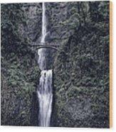 Multnomah Falls - Columbia Gorge - Oregon State Wood Print