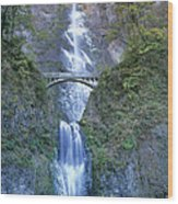 Multnomah Falls Columbia River Gorge Wood Print