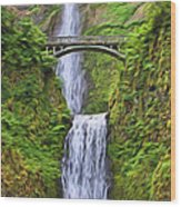 Multnomah Falls I Wood Print