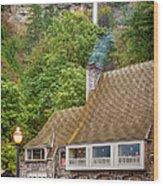 Multnomah Falls Lodge Wood Print