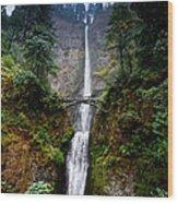 Multnomah Falls Oregon State Waterfall Wood Print