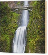 Multnomah Panorama Wood Print