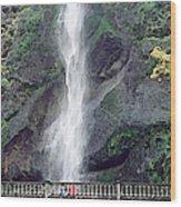 Multonomah Falls Oregon Wood Print