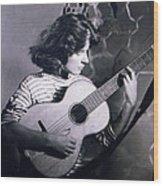 Mum Chris With Her Guitar Gitana Wood Print
