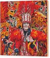 Mummer Red Wood Print