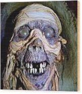 Mummified Mike Wood Print