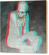 Mummy Dearest - Use Red-cyan Filtered 3d Glasses Wood Print