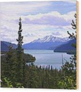 Muncho Lake View Wood Print