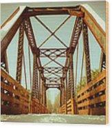 Munger Trail Crossing Wood Print