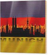 Munich City Wood Print
