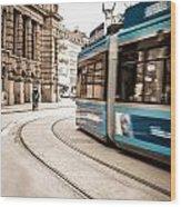 Munich City Traffic Wood Print