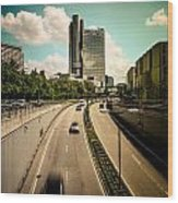 Munich Traffic Wood Print