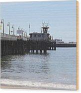 Municipal Wharf At The Santa Cruz Beach Boardwalk California 5d23767 Wood Print