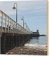 Municipal Wharf At The Santa Cruz Beach Boardwalk California 5d23768 Wood Print