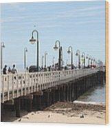 Municipal Wharf At The Santa Cruz Beach Boardwalk California 5d23773 Wood Print by Wingsdomain Art and Photography