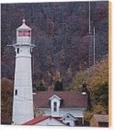 Munising Front Range Lighthouse Wood Print