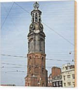 Munttoren In Amsterdam Wood Print