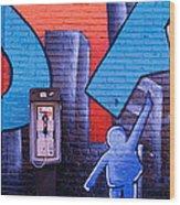 Mural, Nyc, New York City, New York Wood Print