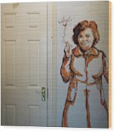 Mural Of Mccourts Mother Angela Wood Print