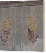 Mural - Wat Pho - Bangkok Thailand - 01132 Wood Print by DC Photographer