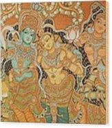 Muralpainting Devotion Wood Print