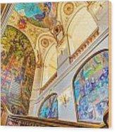 Murals Of Capitole De Toulouse Wood Print