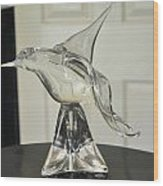 Murano Crystal Bird Wood Print