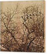 Murder In The Cemetery Wood Print