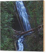 Murhut Falls Wood Print by Heike Ward