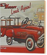 Murray Fire Truck Wood Print