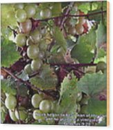 Muscadine Grapes Wood Print