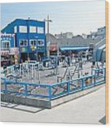 Muscle Beach Gym In Venice California Wood Print