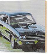 Muscle Car Wood Print