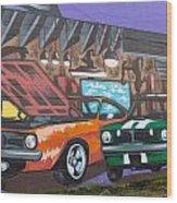 Muscle Cars Wood Print