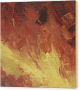 Muse In The Fire 2 Wood Print