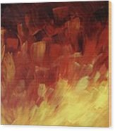 Muse In The Fire 3 Wood Print