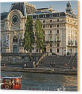 Musee D'orsay Along River Seine Wood Print