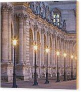 Musee Du Louvre Lamps Wood Print