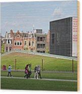 Museumplein Lawn In Amsterdam Wood Print