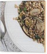 Mushroom Barley Meal Wood Print