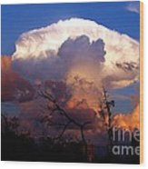 Mushroom Cloud At Sunset Wood Print by Doris Wood