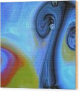 Mushroom Colors Wood Print by Riad Belhimer
