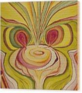 Sage Onion Mushroom Wood Print