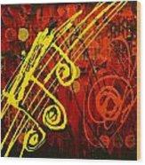 Music 2 Wood Print