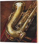 Music - Brass - Saxophone  Wood Print