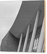 Music Building Wood Print