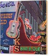 Music Clubs Nashville Wood Print