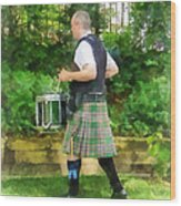 Music - Drummer In Pipe Band Wood Print