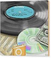 Music History Wood Print