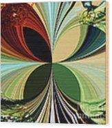 Music In Bird Of Tree Kaleidoscope Wood Print